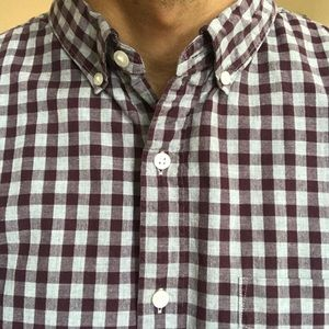 Bonobos Standard Fit Plaid Button Down Shirt XXL